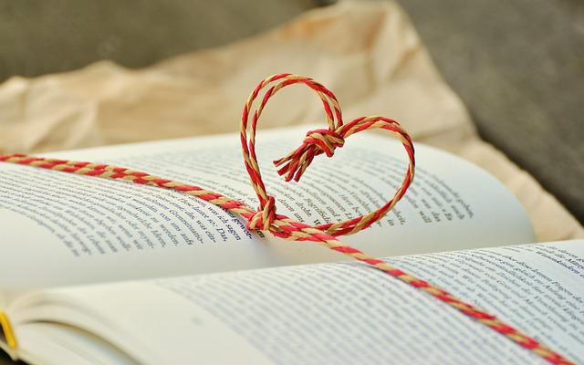 Book, Book Gift, By Heart, Cord, Gift, Read, Heart