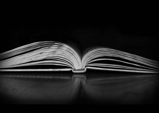 Book, Darkness, Book In The Dark, Black And White, Dark