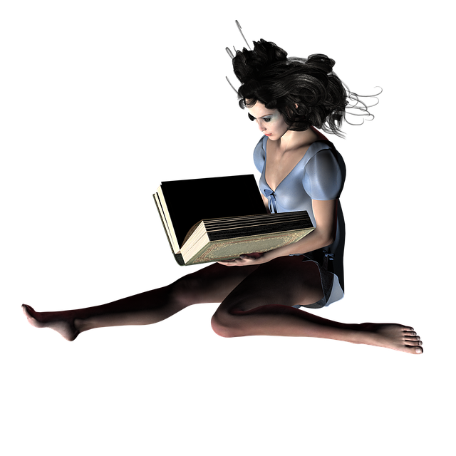 Book, Woman, Read, Fantasy, Mystical, Library, Romantic