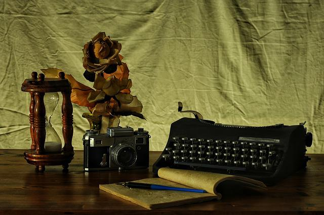 Machine, Photographic, To Write, Time, Desk, Book