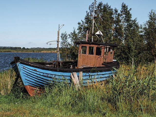 Booked, Sea, Boot, Cutter, Reed, Fishing, Wreck, Ship