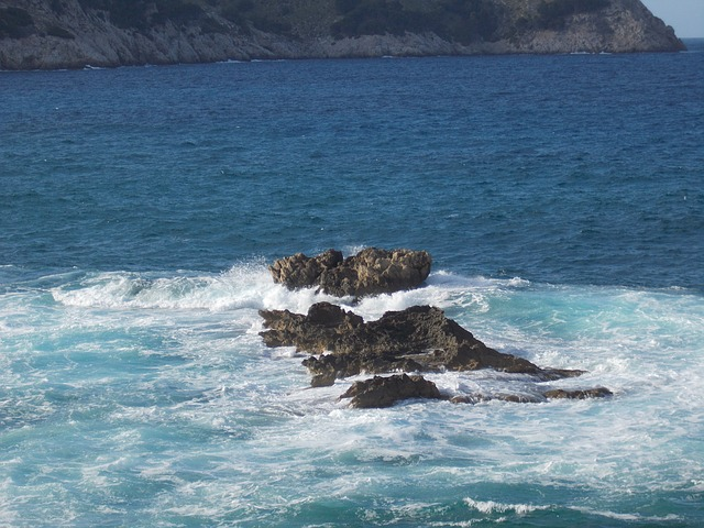 Rock, Water, Sea, Ocean, Booked, Mallorca, Wave