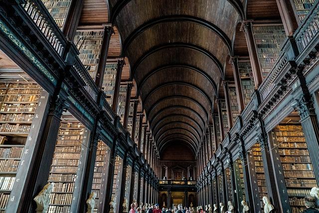 Library, Books, Dublin, Ireland, Trinity