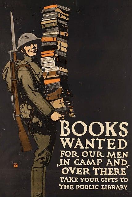 Army, Military, Books, Vintage Poster, Helmet