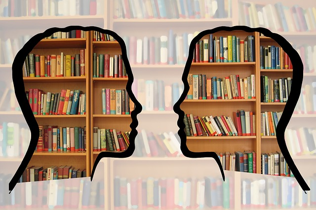 Silhouette, Head, Bookshelf, Know, Information
