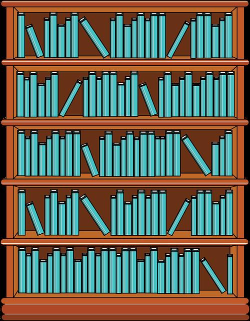 Bookshelf, Books, Library, Education, School, Knowledge
