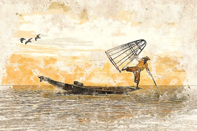 Fisher, Man, Person, Fishing Boat, Boot, Fish, Sea