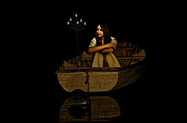 Boot, Woman, Rowing Boat, Water, Lake, Mood