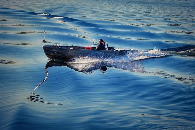 Powerboat, Blue, Water, Boot, Lake, Water Sports, Sport