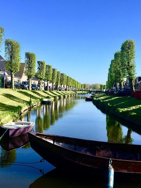 Holland, Netherlands, River, Avenue, Boot, Summer