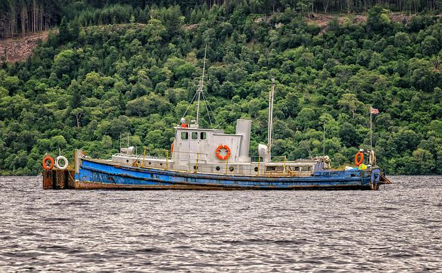 Ship, Boot, Cutter, Cemetery, Boat Cemetery, Loch Ness