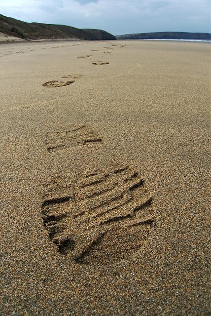 Footprint, Sand, Track, Print, Foot, Boot, Beach