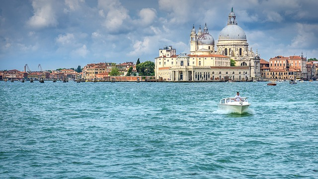 Travel, Landscape, Venice, City, Boot, Church, Water