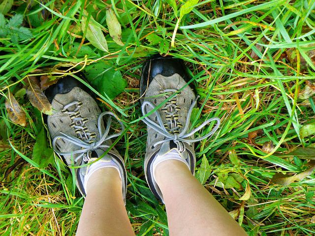 Boots, Hiking Boots, Grass, Travel, Track