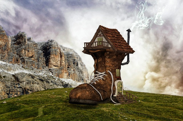 Shoe, Boots, Home, Boots House, House, Fantasy