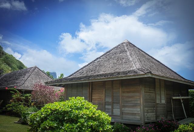 Bora-bora, Landscape, Architecture, Bungalow, Garden