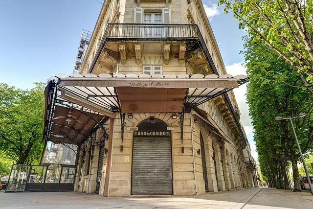 Cafe, France, Closed, Bar, Bordeaux