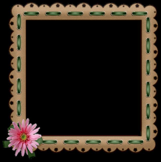 Frame, Flowers, Cardstock, Border, Floral, Banner