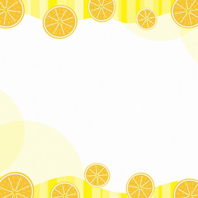 Digital Paper, Fruit, Border, Lemon, Orange, Watermelon