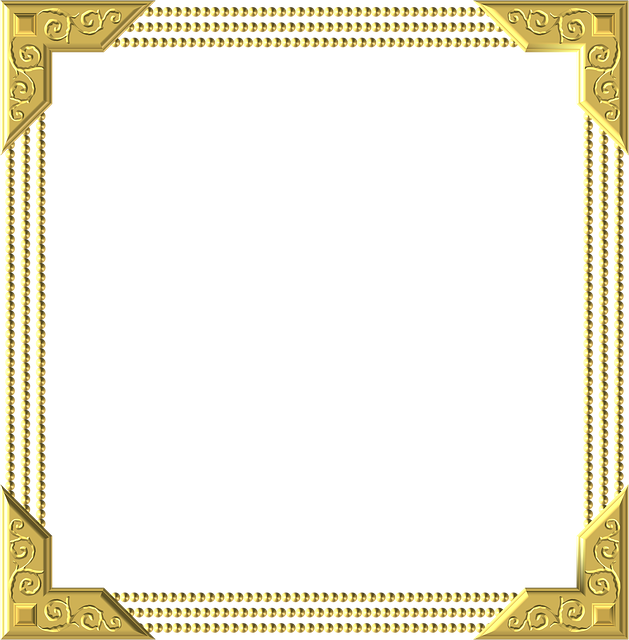 Gold, Frame, Square, Border, Decoration, Decor