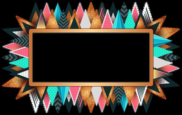 Rectangle, Frame, Colorful, Design, Decorative, Border