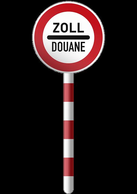 Customs Douane, Shield, Border Crossing, Border