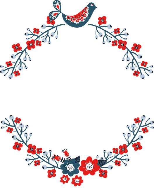 Wreath, Frame, Floral, Flourish, Border, Decorative