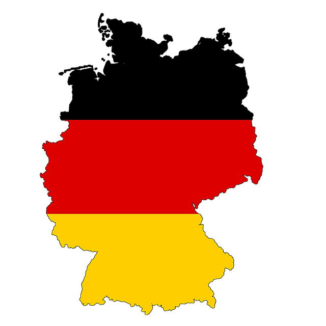 Germany, Map, Flag, Land, Country, Borders