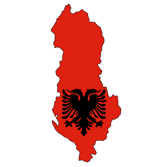 Albania, Map, Flag, Land, Country, Borders