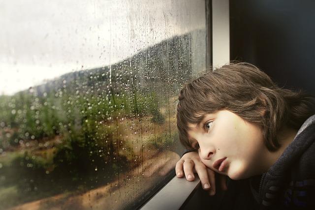 Little Boy, Window, Waiting, Bored, Tired