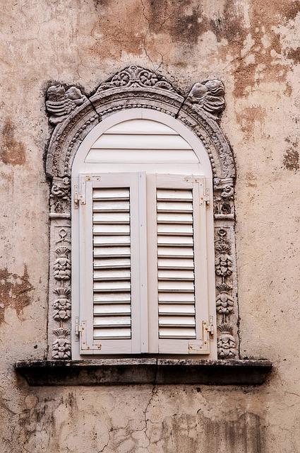 Window, Croatia, Istria, August, Borgo