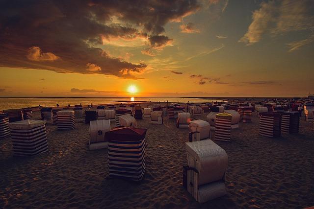 Borkum, Sunset, Beach Chair