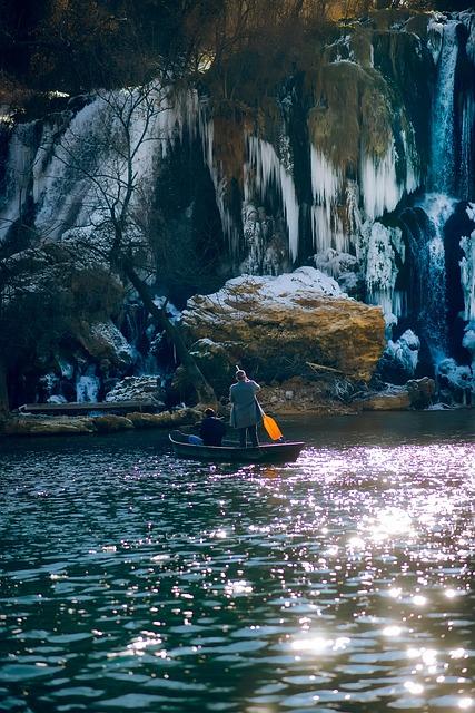 Bosnia And Herzegovina, Cave, Mountain, Boat, Couple