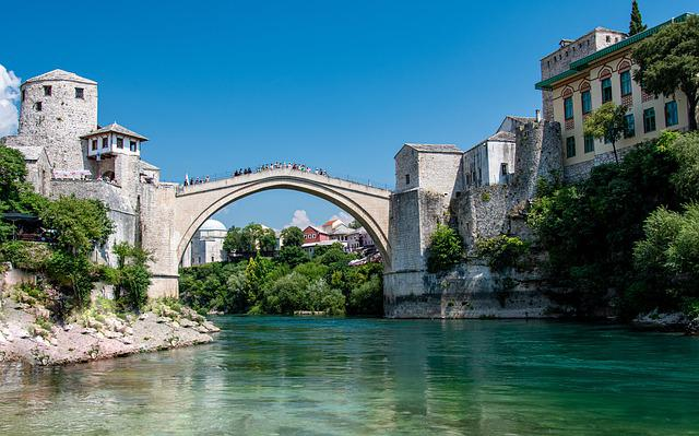 Mostar, Bridge, Bosnia, Bosnia And Herzegovina, Old