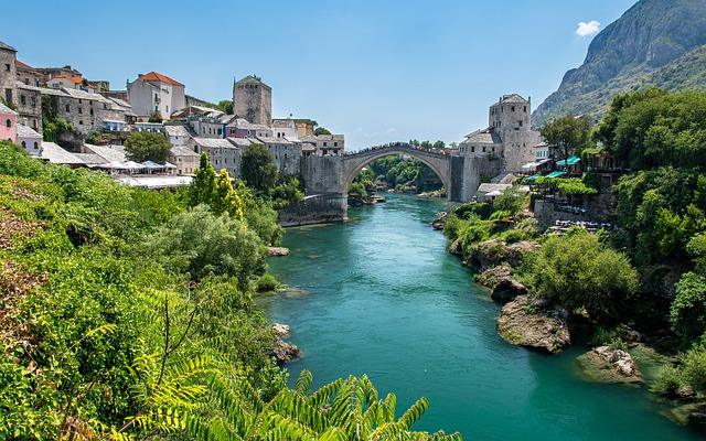 Mostar, Bosnia, Bosnia And Herzegovina, Bridge, Old