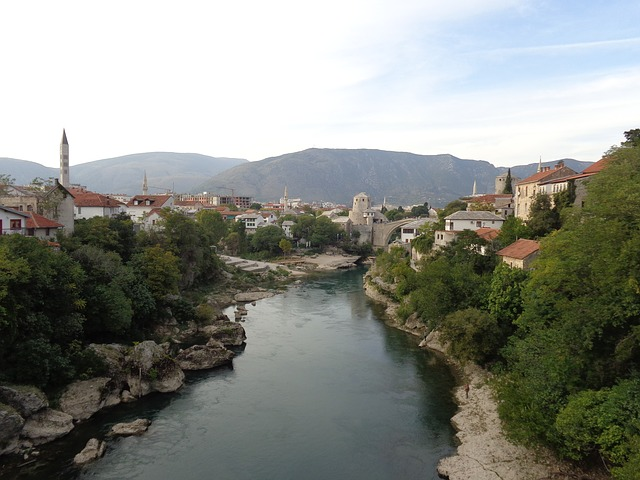Mostar, Bosnia, Herzegovina, Stone Bridge, Tower