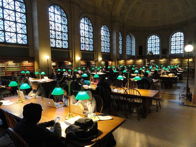 Boston Public Library, Boston, Massachusetts, People