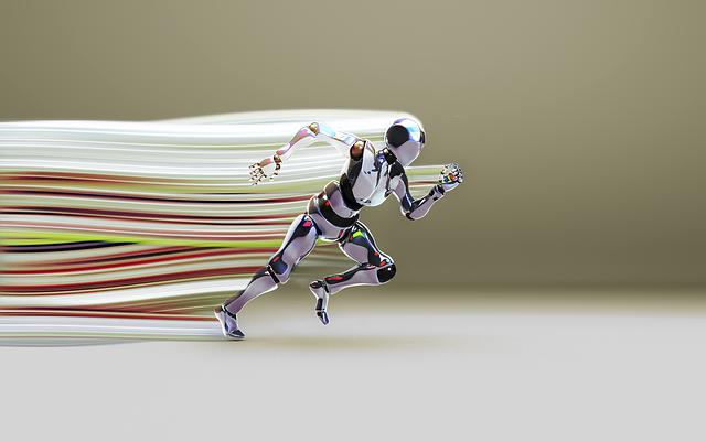 Bot, Running Bot, Light Ribbon