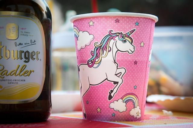 Birthday, Celebration, Cup, Bottle, Festival, Unicorn