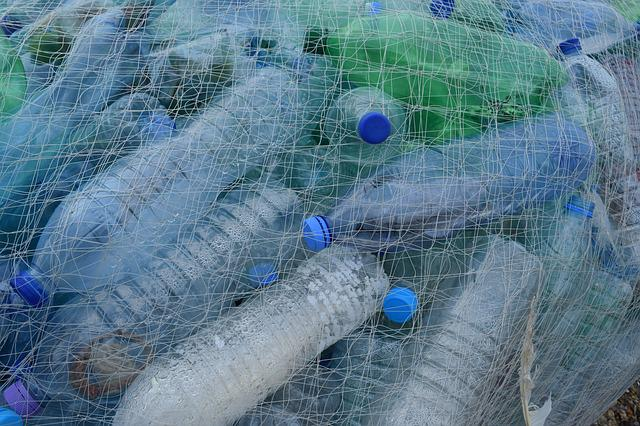 Plastic Bottles, Fishing Net, Netting, Bottle, Beach