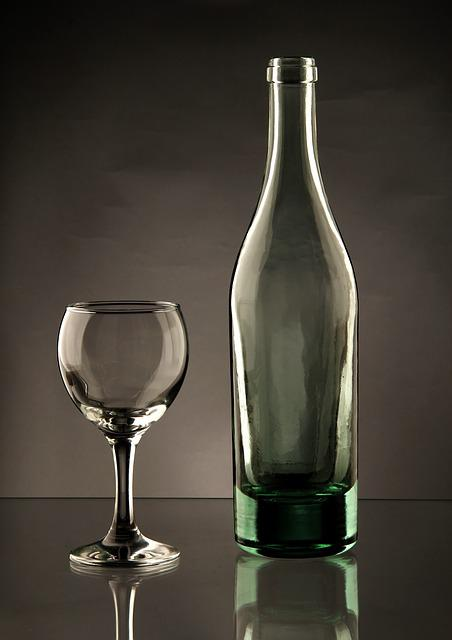 Glass, Bottle, Wine Glass, Transparent, Elegant