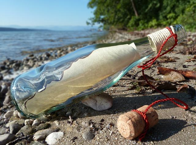 Message In A Bottle, Post, Bottle, Sand, Beach, Glass
