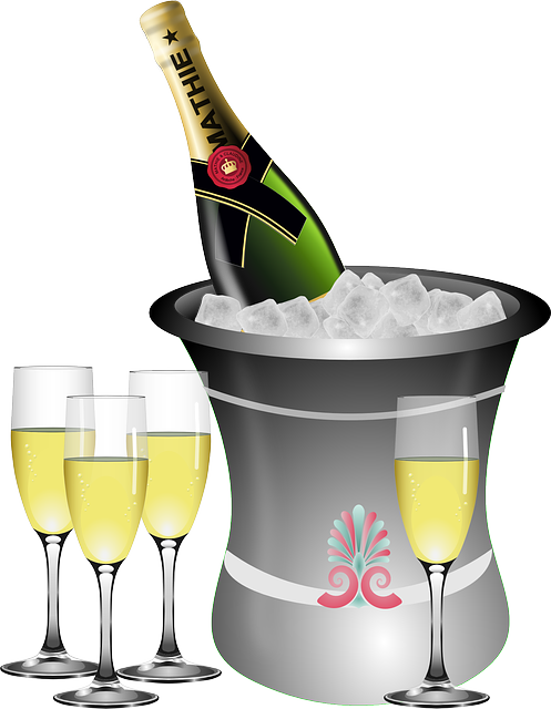 Anniversary, Sparkling Wine, Bottle, Bucket