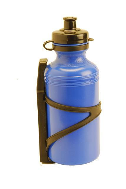 Canteen, Bottle, Sport, Blue, Plastic