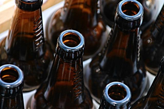 Beer Bottles, Bottles, Empty, Brown, Beer, Drink