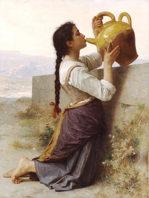 William, Adolf, Thirst, Bouguereau, Painting, Art