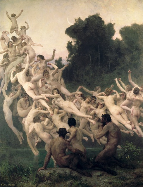 William, Adolf, Bouguereau, The Oreads, Oil Painting