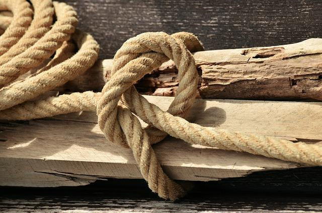 Rope, Natural Rope, Knot, Dew, Knitting, Bound, Coarse