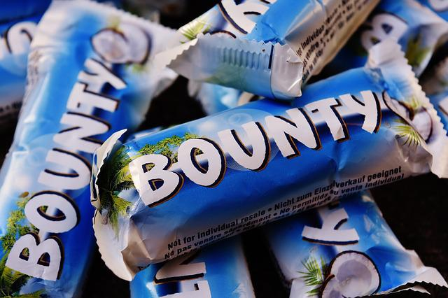 Bounty, Candy Bar, Chocolate, Coconut, Sweetness