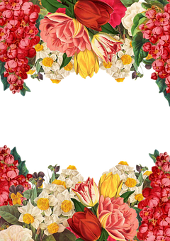 Flower, Frame, Background, Vintage, Roses, Bouquet
